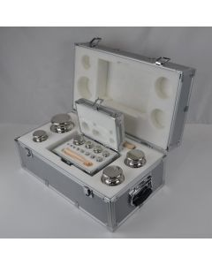 Stainless Steel Metal Case Set of M1 500g - 1mg Weights